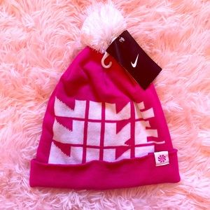 Pink Nike Future Pom Pom beanie